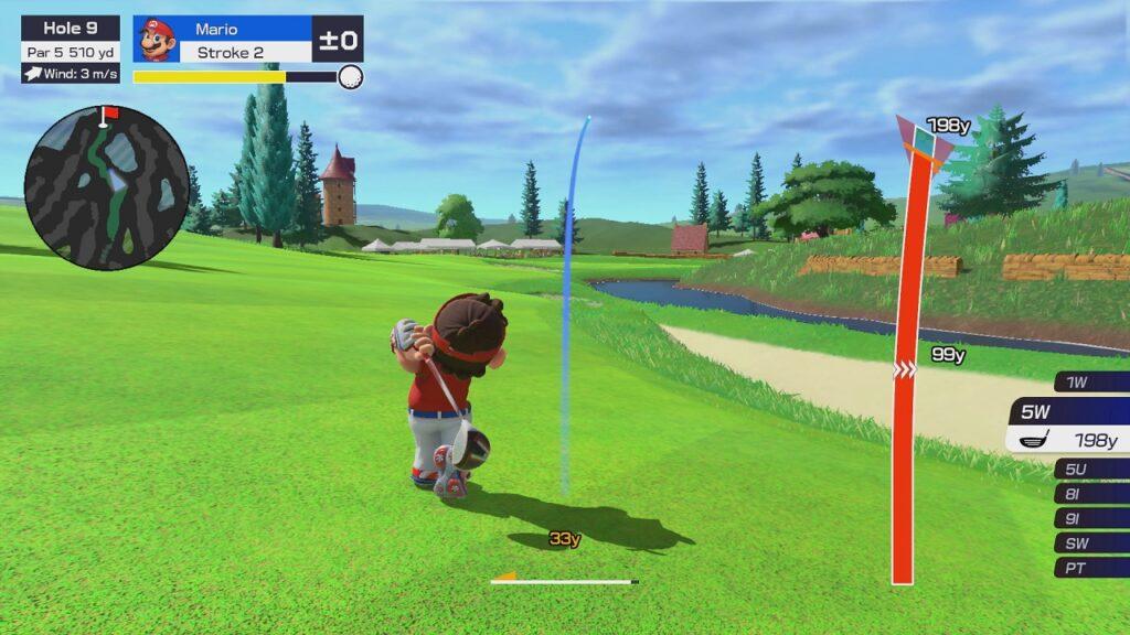 Mario Golf Super Rush Screenshot 1 Écran Partagé